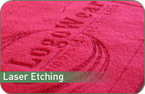Logowear Embrodered Images - Laser Etching